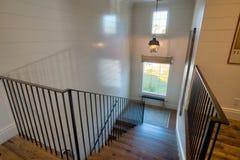 Escalera casera de la mansión imagen de archivo libre de regalías