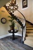 Escalera casera de lujo. Foto de archivo libre de regalías