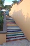 Escalera colorida Imágenes de archivo libres de regalías