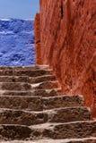 Escalera colorida foto de archivo