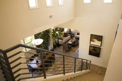 Escalera con estilo de la mansión Imágenes de archivo libres de regalías