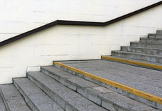 Escalera con la barandilla Foto de archivo libre de regalías