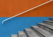 Escalera con la barandilla Fotografía de archivo