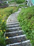 Escalera con la pintura fluorescente Foto de archivo libre de regalías