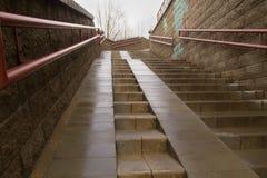 Escalera con la rampa Imagen de archivo