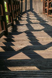 Escalera con la sombra Imágenes de archivo libres de regalías