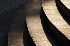 Escalera con la sombra del sol Fotografía de archivo libre de regalías