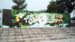 Escalera con reserva la bandera de la naturaleza Foto de archivo libre de regalías