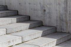Escalera concreta Foto de archivo libre de regalías