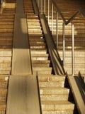 Escalera concreta ancha Imagenes de archivo