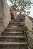 Escalera concreta vieja Imagen de archivo