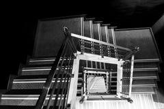 Escalera cuadrada en BW Imagen de archivo