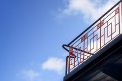 Escalera de acero foto de archivo libre de regalías