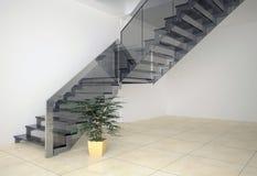 Escalera de cristal Imagenes de archivo