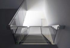 Escalera de cristal Foto de archivo