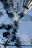 Escalera de cristal Foto de archivo libre de regalías