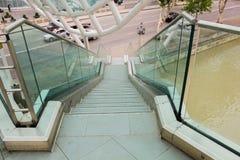 Escalera de cristal de moda original Fotografía de archivo
