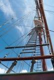 Escalera de cuerda de la nave Foto de archivo libre de regalías