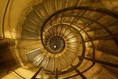 Escalera de enrollamiento Imagenes de archivo