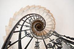 Escalera de enrollamiento Fotografía de archivo