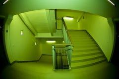 Escalera de Fisheye Foto de archivo