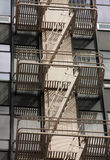 Escalera de incendios Imágenes de archivo libres de regalías