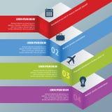Escalera de Infographic Imagenes de archivo