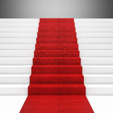 Escalera de la alfombra roja Foto de archivo libre de regalías