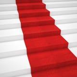 Escalera de la alfombra roja Foto de archivo