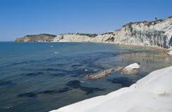 Escalera de la costa costa turca. Agrigento fotos de archivo