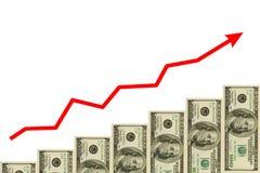 Escalera de la flecha y del dinero ilustración del vector