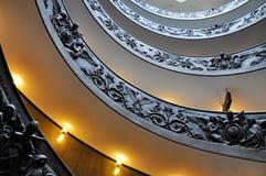 Escalera de la hélice del Vaticano Imagen de archivo libre de regalías
