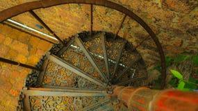 Escalera de la hélice doble Imágenes de archivo libres de regalías