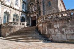 Escalera de la iglesia de St Francis en Oporto Portugal Imagen de archivo libre de regalías
