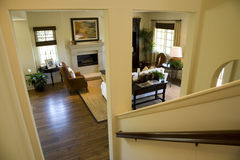 Escalera de la mansión Imagen de archivo libre de regalías