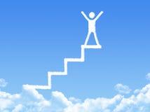 Escalera de la nube, la manera al éxito Fotografía de archivo