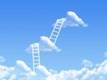 Escalera de la nube, la manera al éxito Imagen de archivo libre de regalías