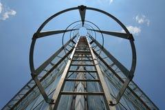 Escalera de la salida de incendios en un edificio Fotografía de archivo libre de regalías