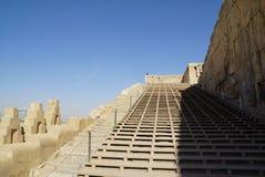Escalera de la terraza de la ciudad vieja Persepolis, Irán foto de archivo