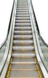 Escalera de las escaleras móviles para transportar el aislante de la gente en el fondo blanco Foto de archivo libre de regalías