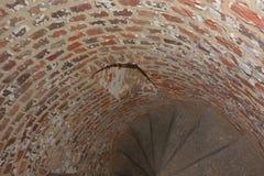 Escalera de las ruinas de 1000 años de la abadía de los sint-baafs Fotografía de archivo