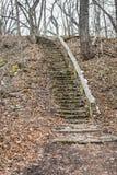 Escalera de los diablos - rastro de la edad de hielo - Janesville, WI imagenes de archivo