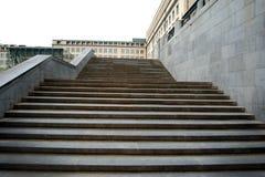 Escalera de mármol para arriba, negocio, manera al éxito fotografía de archivo