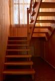 Escalera de madera Imagenes de archivo