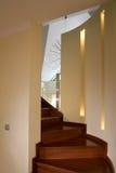 Escalera de madera Foto de archivo libre de regalías