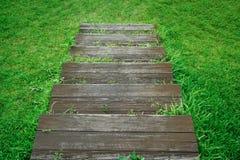 Escalera de madera Foto de archivo