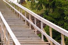 Escalera de madera, al aire libre Imagen de archivo libre de regalías