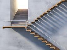 escalera de madera 3ds Foto de archivo
