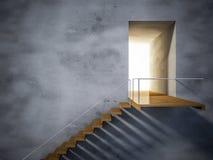 escalera de madera 3ds Fotografía de archivo libre de regalías