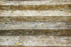 Escalera de madera vieja Foto de archivo